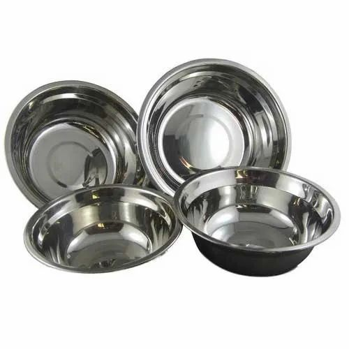 Silver SS216 Stainless Steel Bowls, Packaging Type: Packet