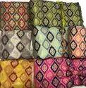 Border Polyester Banarasi Meena Jacquard Fabric, 200