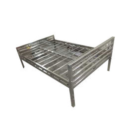 6 X 6 Feet Silver Stainless Steel Double Bed Frame