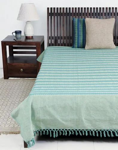 Stripped Jaipuri Cotton Double Bed Covers, Packaging Type: Packet