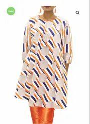 Long Digital Printed Dress