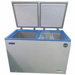 PrePainted GA Sheet Electric Blue Star Double Door Chest Freezer, Capacity: 500 L, -18 to 12 Deg Cel