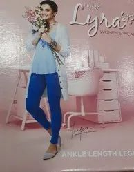 Cotton Straight Fit Lux Lyra Ankle Length Leggings, Size: Free Size