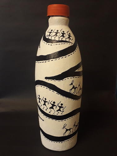 black  u0026 white tisser terracotta hand painted warli art bottle