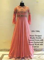 Carnation Heavy Muslin Gown