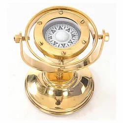 Golden Finish Gimbal Brass Compass