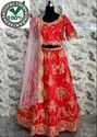 Bridal Red Bridal Silk Lehenga Choli