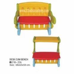 Plastic 1 Kids Desk Cum Bench, For Home Nd Pre School