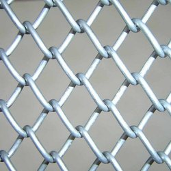 Stainless Steel Diamond Silver GI Wire Mesh, For Industrial, Material Grade: Ss 316