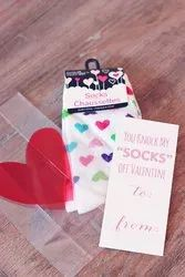 Multicolor Paper Socks Tags