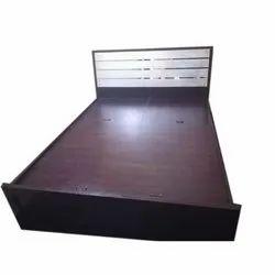 Brown Designer Wooden Single Bed