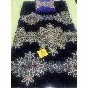 Embroidered Velvet George Fabric