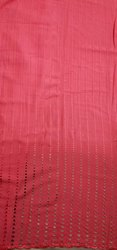 Rayon Chikan Embroidery Boring Design Fabric