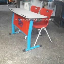 Two Seater Mild Steel School Desk