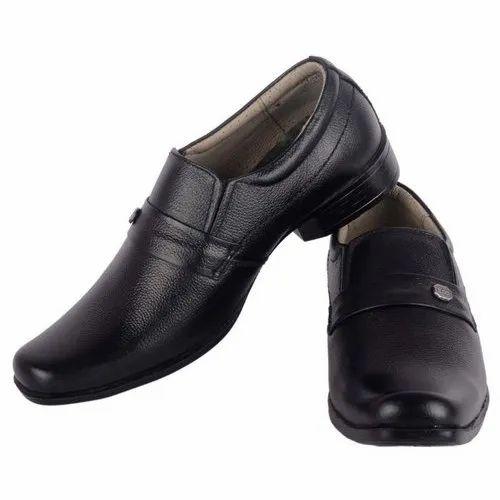 c1b4a8959d7 Black Men Leather Semi Formal Shoes