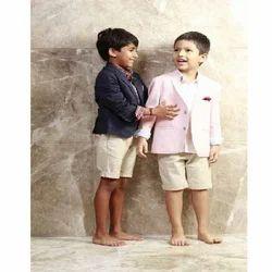 3 Piece Khadi Shirt, Jacket, Linen Shorts Set