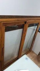 Wooden Finish Aluminum Sliding Window