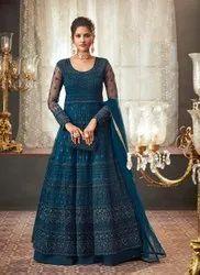Designer Party Wear Net Aanarkali Suit
