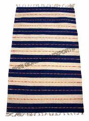 SGE Rectangular Striped Cotton Rug