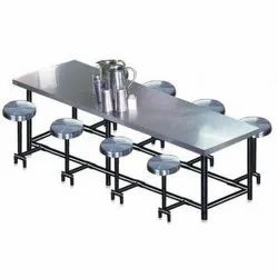 Om Woods Steel Canteen Table, For 8 Seater
