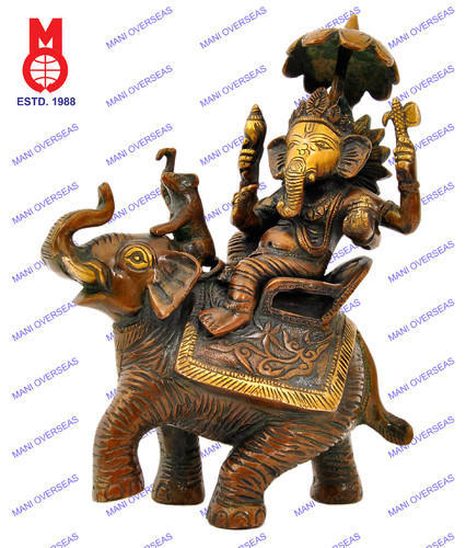 3 5 Lord Ganesh Ganesha Statue Sculpted In Great Detail With Antique Finish