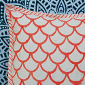 Canvas Block Printed Cushion Cover