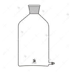 Borosilicate Glass Bottles Aspirator with Outlet