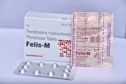 Fexofenadine 120mg,Montelukast 10mg (Bilayered Tablet)