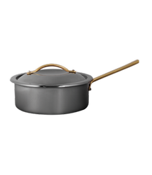 Skyserv Induction Titanium Finish 3 Ltr Round Sauce Pan with Food Pan