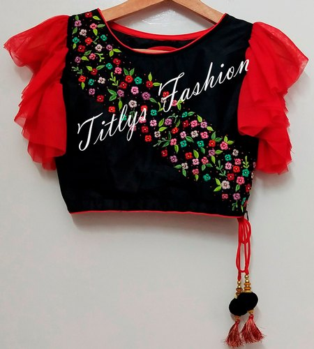 Multicolour Machine Embroidery Blouse