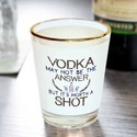 Custom Shot Glasses with Gold Rim