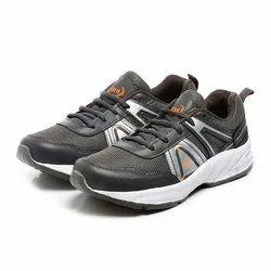 Mens Dark Grey Silver Synthetic Walking Shoes