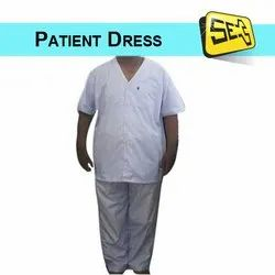 Dark Blue Lining Top and Bottom Patient Dress, For Hospital
