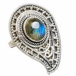 Large Labradorite Silver Ring
