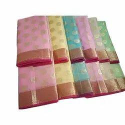 Festive Wear Embroidered Cotton Kota Doria Saree