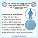 Bio-Safety PPE Wrap All Suit Ankle-High Shoe Covers Extra, 45 25 GSM Laminated-Level 1