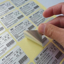 Paper Garment Barcode Stickers, Packaging Type: Roll