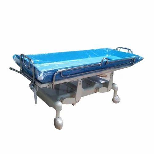 Surgitech Mild Steel Hospital Shower Trolley