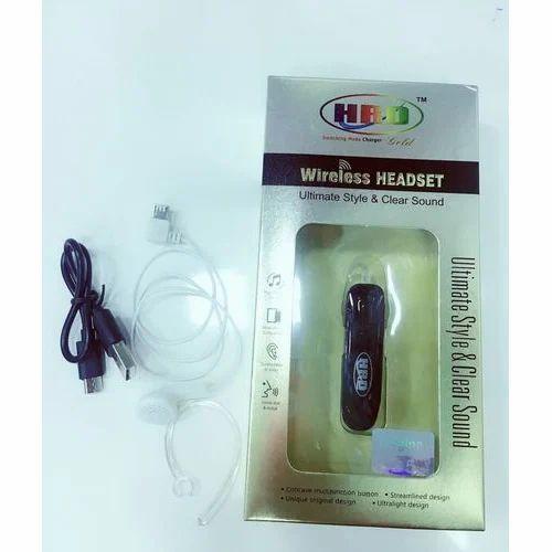 8d3d9651564 HRD Black Bluetooth Headset, Rs 180 /piece, Hindustan Mobile ...