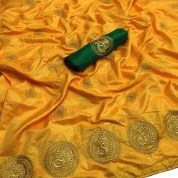 Sana Silk With Embroidered Work Saree