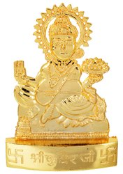 Kesar Zems Golden Plated Lord Kuber Idol Showpiece for Temple and Home Decor