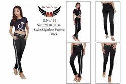 Yarn Black Stretchable Ladies Jeans