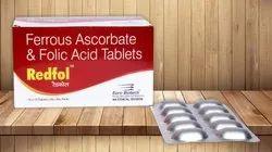 Ferrous Ascorbate 100 mg & Folic Acid 1500 mcg Tablets