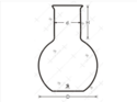 Flask Wide Neck Transparent