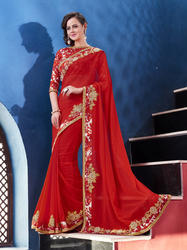 Heavy Embroidered Work Saree