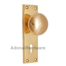 Ephraim Brass Door Knob with Plate