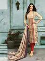 Chanderi Cotton Embroidered Semi-Stitched Salwar Kameez With Bottom And Chiffon Dupatta