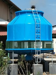 Frp Induced Draft Counterflow Round Type Cooling Tower