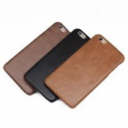 Apple iPhones Black And Brown Leather Mobile Cover