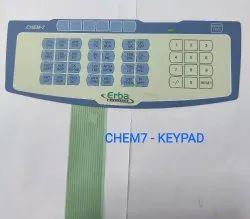 Erba Chem 7 Biochemistry Analyzer- Keypad